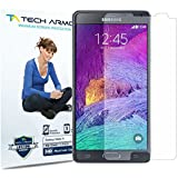 Galaxy Note 4 Screen Protector (Not Glass), Tech Armor High Definition HD-Clear Samsung Galaxy Note 4 Film Screen Protector [3-Pack]