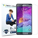 Galaxy Note 4 Screen Protector, Tech Armor High Definition HD-Clear Samsung Galaxy Note