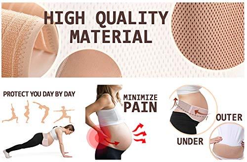 Maternity Belt - Pregnancy Support Belt, Adjustable Belly Band for Prenancy, Breathable Abdominal Binder, Back Support, Beige
