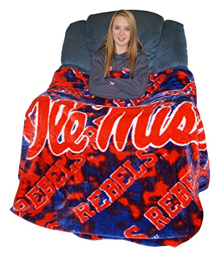 College Covers Mississippi Rebels Throw Blanket/Bedspread