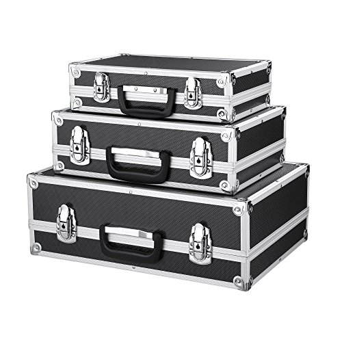 Price comparison product image IKAYAA Portable Aluminum Hard Case Box Locking Personal Security Multi-Purpose Carrying Case Tool
