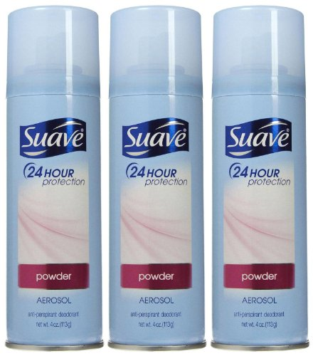 Suave 24 Hour Protection Aerosol Anti-Perspirant & Deodorant for Women-Powder-4 oz, 3 -