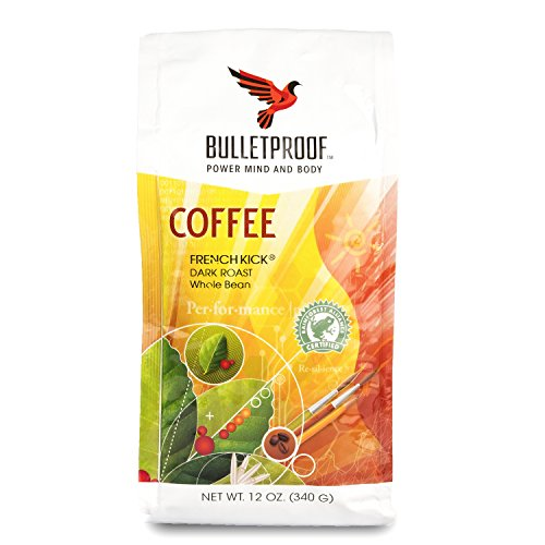 Bulletproof French Rebound Dark Roast Whole Bean Coffee, Smooth and Sweet with Pleasantly Smoky Baking Chocolate Notes (12 Ounces)
