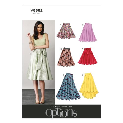 VOGUE PATTERNS V8882 Misses' Skirt Sewing Template, Size A5 (6-8-10-12-14)