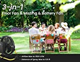 Geek Aire Battery Operated Fan, Rechargeable