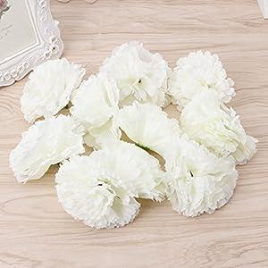 Susada 10Pcs Artificial Fake Carnation Flower For Bridal Bridesmaid Wedding Party Decor 44