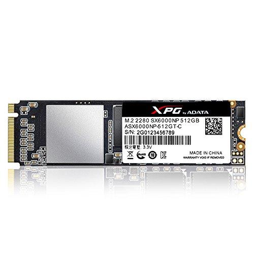 ADATA XPG SX6000 PCIe 512GB 3D NAND PCIe Gen3x2 M.2 2280 NVMe 1.2 R/W up to 1000/800MB/s Solid State Drive (ASX6000NP-512GT-C) by ADATA