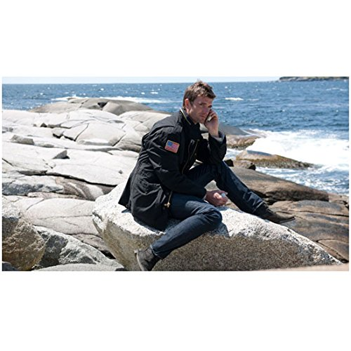 - Haven (TV Series 2010 - ) 8 Inch x10 Inch Photo Lucas Bryant Talking on Phone Seated on Seaside Rock kn