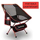Zerllaug Folding Camping Chair, Lightweight Portable Backpacking Chair for Outdoor, Heavy Duty 270
