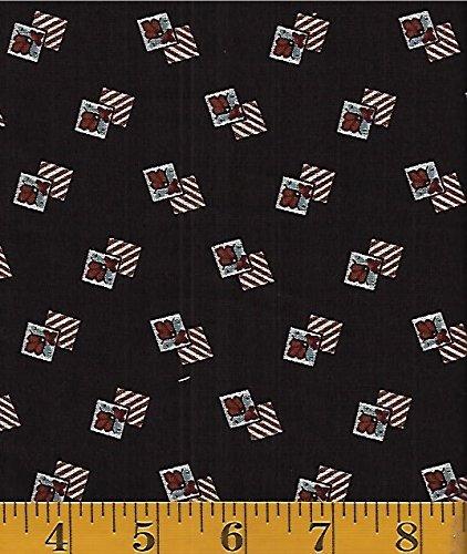 Washington Street Studio by  - Cross Quilt by the Rocky Mountain Quilt Museum #: Drifitting Tile Motif - Dark Brown - P&B Textiles cros-352z
