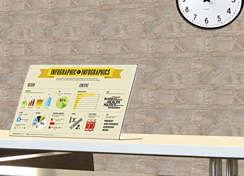 Marketing Holders Sign Holder 17''w x 11''h Table Top Side Loading Slant Back Lot of 5 by Marketing Holders (Image #5)