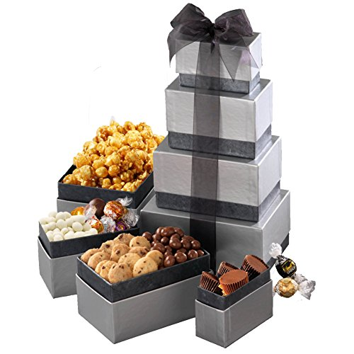 Broadway Basketeers Thinking of You Gourmet Gift Tower