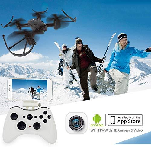 HDカメラ付きポータブルRCドローンライブビデオWiFi Quadcopter航空機電気玩具高度付きホールドヘッドレスモード3Dモジュラーバッテリー付きフリップ B07SX43R5P