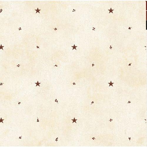 [Brewster FFR09065 Sand Barn Star & Sprigs Wallpaper, Sand Star and Sprigs] (Barn Star Wallpaper)