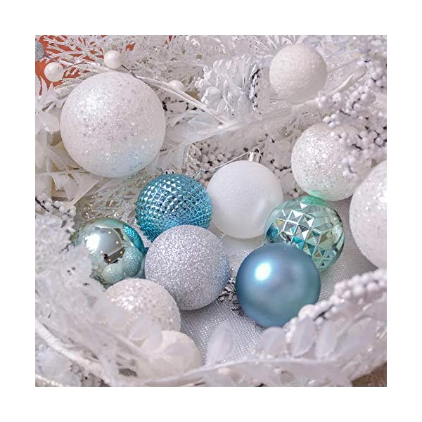 Valery Madelyn Palle di Natale 50 Pezzi 6 cm Palline di Natale, Essenziali Blu e Argento di Base Infrangibile Ornamenti di Palla di Natale Decorazione per la Decorazione Dell'Albero di Natale 6 spesavip