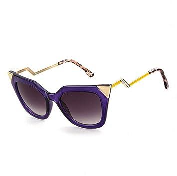 Z&YQ Gafas de sol mujer estilo street fashion cuernos metal ...