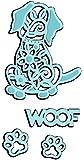 Sweet Dixie Woof Die, Metal, Grey
