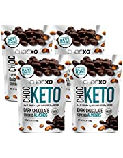 ChocKETO Dark Chocolate Covered Almonds | Keto Certified, Low Sugar and Kosher | Sustainably Sourced 85% Cacao, 100 g
