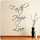 Faith Hope Love Wall Decal Decor Words Large Nice Sticker