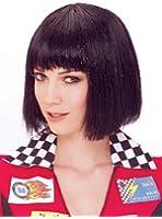 Glitzy Glamour Bob Black Adult Costume Wig