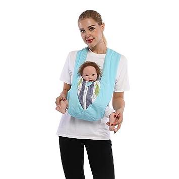 81da5e345fa Amazon.com   Cuby Best Organic Baby Carrier Cozy Cotton Baby Wrap X-Type Newborn  Baby Sling Portabebe Ergonomica Kanguru Baby Carrier Rated (Sky Blue)   ...
