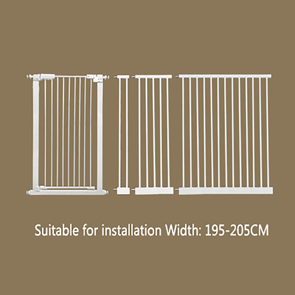 W195-205cm H 110CM W195-205cm H 110CM FPigSHS Pet gate Dog fence indoor Anti-dog isolation railing safety fence Cat and dog fence Isolation door Pet fence pet bed Detachable (color   W195-205cm, Size   H 110CM)