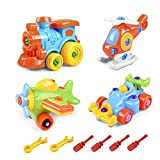 Best Learning Toys For 4 Year Old Boys - 4 PCS Take Apart Toys Set, Airplane Toy Review