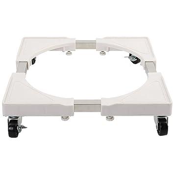 Muebles telescópicos de la base móvil de múltiples funciones Rodillo de la plataforma ajustable con 4 rodillos Ruedas giratorias de goma para la secadora, ...