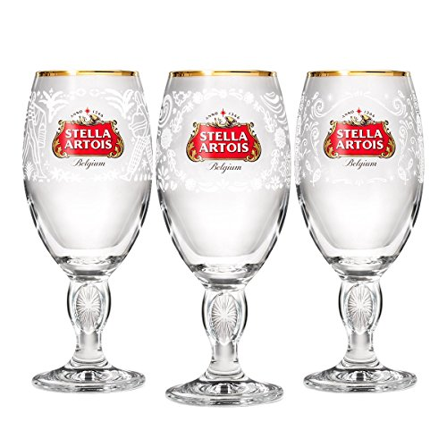 Stella Artois Limited-Edition Chalice Box-Set – Mexico, India, and Philippines, - With Glasses Rim Gold