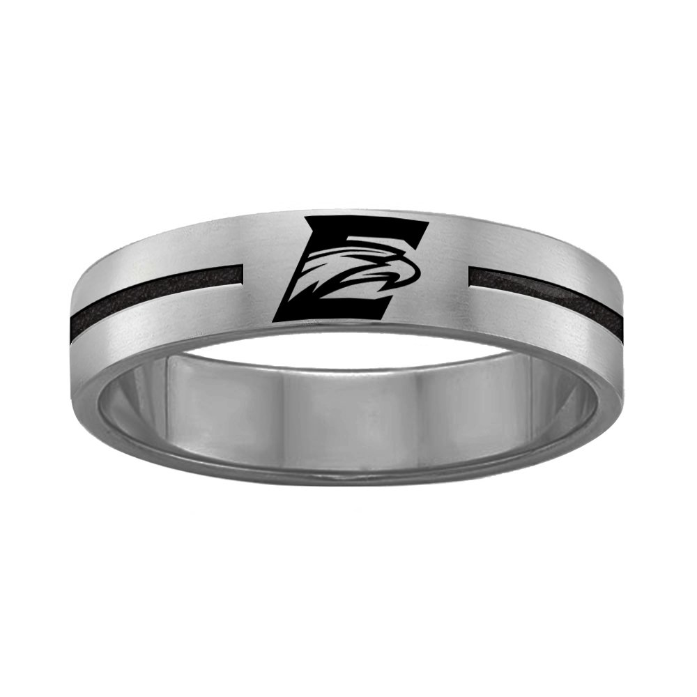 12 College Jewelry Emory University Eagles Rings Stainless Steel 8MM Wide Ring Band