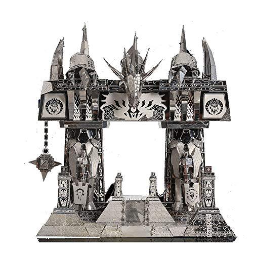 Picture Kingdom 3D Metal Puzzle World of Warcraft The Dark Portal Building PJ-158 DIY 3D Metal Puzzle Kits Laser Cut Models Jigsaw Toys