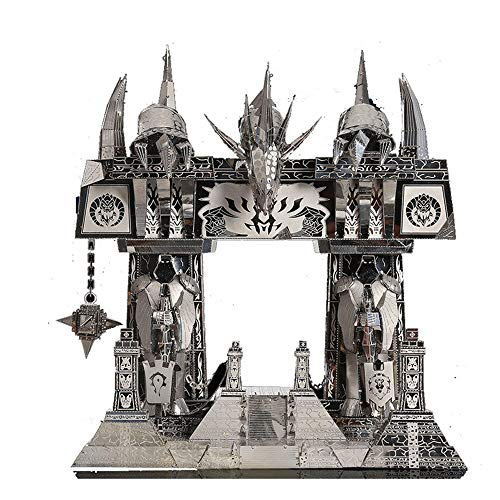 Picture Kingdom 3D Metal Puzzle World of Warcraft The Dark Portal Building PJ-158 DIY 3D Metal Puzzle Kits Laser Cut Models Jigsaw Toys