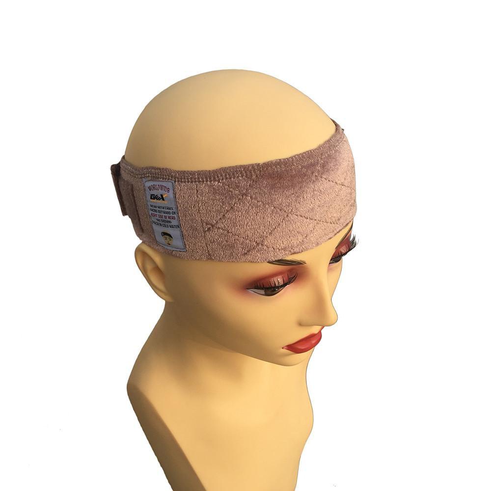 GEX Wig Grip Adjustable Elastic Comfort Headband Hook and Loop Fastener Adjustable Wig Band (Tan)