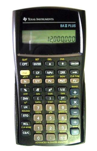 Texas Instruments Ba Ii Plus Financial Calculator Finance Baii Ba Ii Financd Calulator Pocket Pc