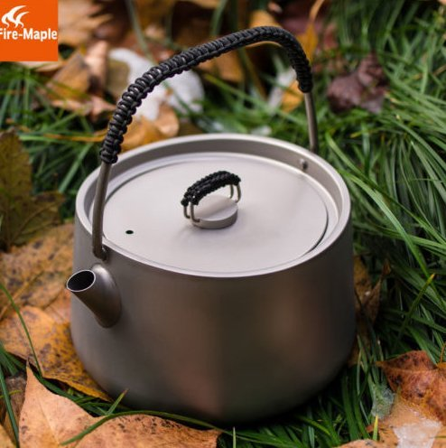 Fire Maple Titanium Outdoor Camping Pinic Coffee Tea Pot Teapot Kettle 185g 1L by Fire-Maple