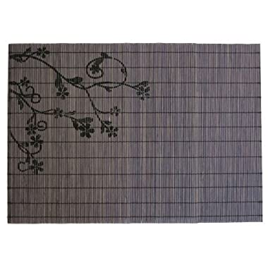 ECO Friendly Grey Black Bamboo Placemats, Set of 6