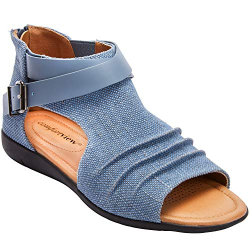 - Comfortview Women's Plus Size The Payton Shootie - Denim, 11 M