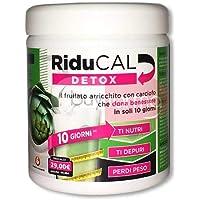 Riducal Detox Tripla Azione Benessere in 10 Giorni - Frullato Arricchito con Carciofo - Confezione da 255 grammi