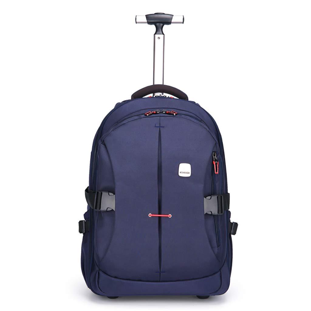 学校のラップトップバッグを旅する少年のためのトロリーバックパック大容量ストレージウィールドローリングバックパック防水旅の荷物 big A B07MPWY7Y8