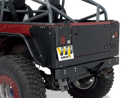Warrior Products S908D Steel Tailgate Cover for Jeep YJ 87-96 ()