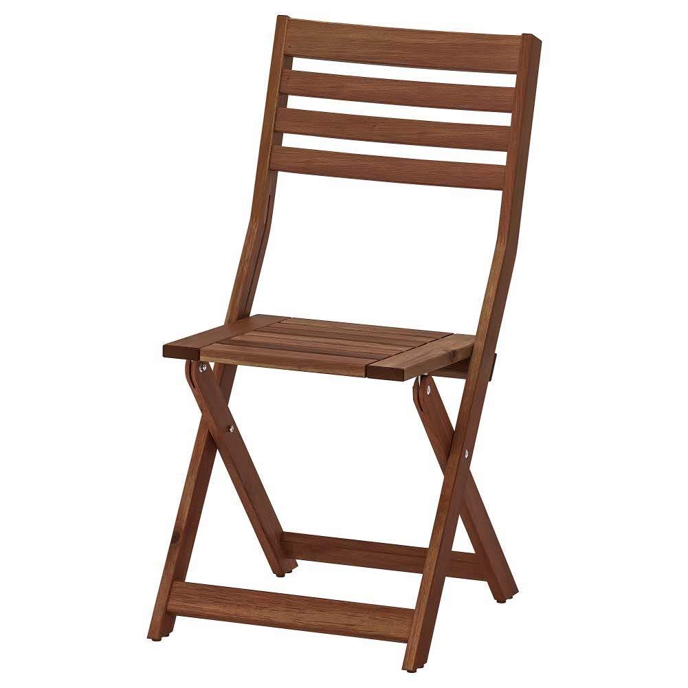 : IKEA ASIA APPLARO Chair Outdoor Foldable Brown
