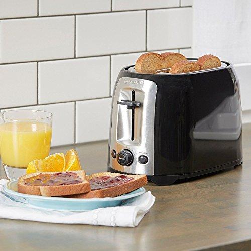 Amazon.com: Tostadora De Pan Eléctrica Dos Ranuras Extra Anchas, Maquina Para Tostar Pan: Kitchen & Dining