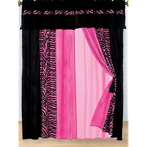 pink zebra decor