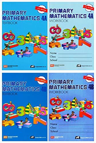 (Singapore Primary Mathematics Grade 4 Kit (4 Books) - Textbooks 4A and 4B, Workbooks 4A and 4B (US Edition))