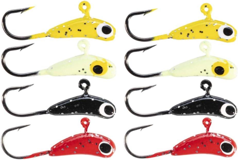 50Pcs//lot Winter Ice Fishing Lure Mini Metal Lead Head Hook Bait Jigging Lure