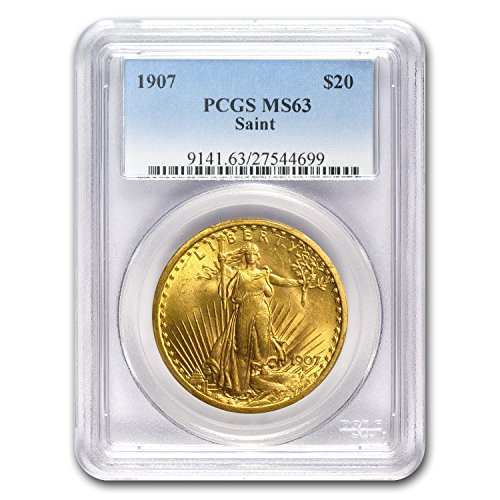 1907 $20 St. Gaudens Gold Double Eagle MS-63 PCGS G$20 MS-63 (Pcgs 20 Coin)