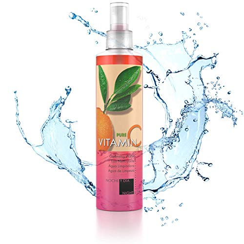Noche Y Dia Night & Day Pure Vitamin C Revitalizing Cleansing Water for Face 8.5 fl oz.