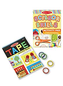 Melissa and Doug Activity Bundle - Scissor Skills Activity Pad with Tape Activity Book - Ages 3 and Up