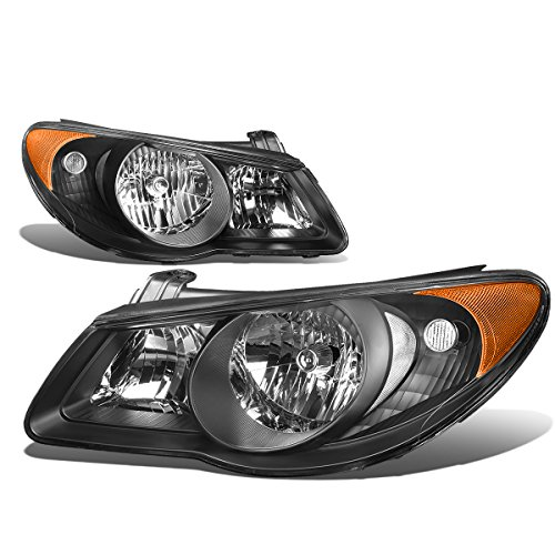 For Elantra Pair Black Housing Amber Corner Bumper Driving Headlight/Lamps ()