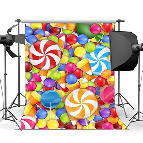 Gladbuy 5X7FT Happy Birthday Backdrop Valentine's Day Background Candy Lollipops Party Decoration Wedding Vinyl Photography Backdrops Girls Lover Photo Studio Props VQ114